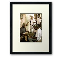 Drawing a Crowd Framed Print