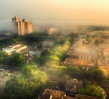 Dawn Over Oliver by Myron Watamaniuk