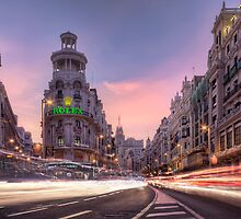 Gran Vía, A River Of Lights And Colors by servalpe