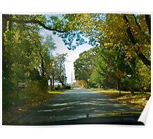 Drive Down Liberty Lane - Fall in Rhode Island Poster
