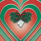 Mistletoe Heart - A Christmas Card by CGafford