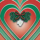 Mistletoe Heart - A Christmas Card by CGafford