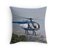 Police cruiser in the sky Throw Pillow