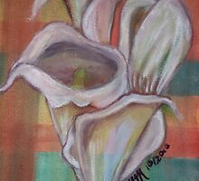 Arum Lilies in Watercolours by Mariaan Maritz Krog Fine Art Portfolio