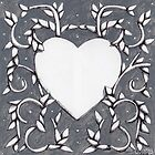 Grey Heart Vines by Donna Huntriss