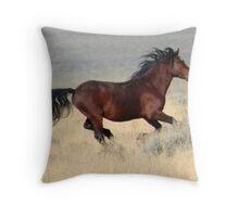 Dark Stallion Throw Pillow