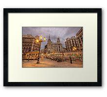Stormy Dusk @ Plaza de Canalejas  Framed Print