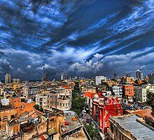 Tel Aviv first rain by Ronsho