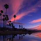 Mission Creek Dawn in Santa Barbara by David Orias