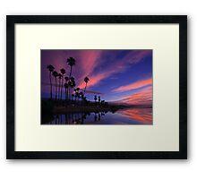 Mission Creek Dawn in Santa Barbara Framed Print