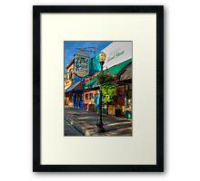 Historical Whiskey Row Prescott Arizona Framed Print