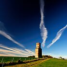 Horton Tower And The Vapour Trails by delros