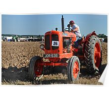 Nuffield tractor at the Great Dorset Steam Fair Poster