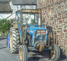 Old Ford tractor in Bishops Nympton by Rob Hawkins