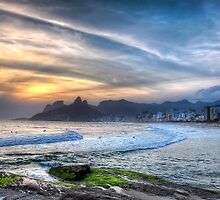 Copacabana Sunset by Ed Pereira