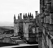Bolsover Castle, Derbyshire, England, BW by Andy Smith
