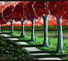 """Red Tree Path""  by Steve Farr"