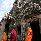 Three Cambodian monks by Lainey Brown