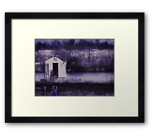 i don't know why this place always makes me feel so lonely Framed Print