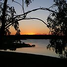 A Bush Sunset at Lake Boondooma by aussiebushstick
