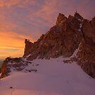 Sunset over Aiguille du Midi (3842 m), France by Hugh Chaffey-Millar
