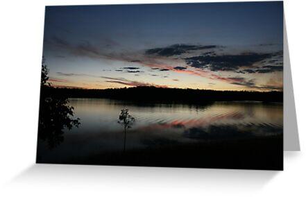 Dusk at Lake Boondooma, Qld by aussiebushstick