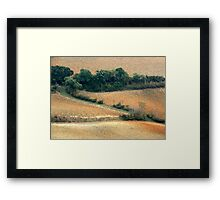 Tuscan Zigzag-Pienza Framed Print