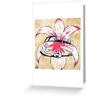 Splitty Flower Greeting Card