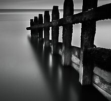 The Groynes - B&W by canuck photography