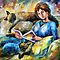 my cats  - original art oil painting by Leonid Afremov by Leonid  Afremov