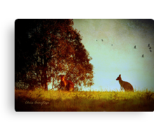 All in the moonlight pale ... Canvas Print