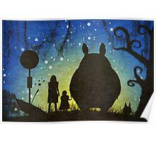 Small Spirits (Totoro) Poster