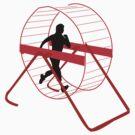 human/hamster jogging by 2piu2design