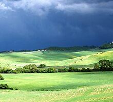 Storm Over Siena-Siena, Itlay by Deborah Downes