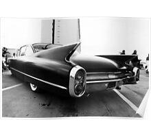 Fins, Chrome and Suede Black Paint Poster
