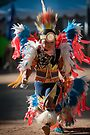 Chumash native American teen dancing by Eyal Nahmias