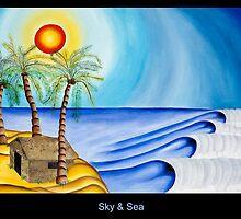 Sky and Sea Postcard by Keith Nesbitt