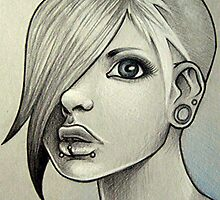 Girl Drawing #1 by Squidy