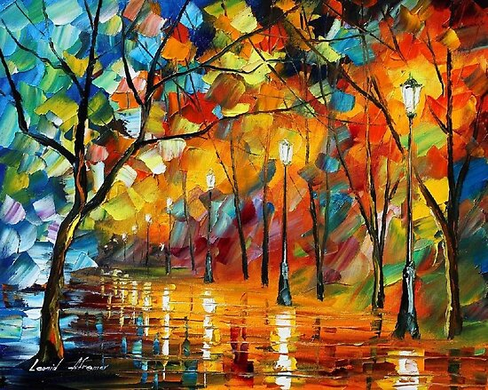 frozen love- original art oil painting by Leonid Afremov by Leonid  Afremov