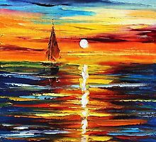 FAR DREAMS - Original Art Oil Painting By Leonid Afremov by Leonid  Afremov