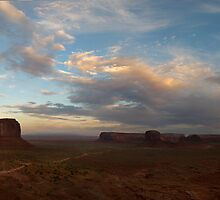 Dusk at Monument Valley by Heather Prince ( Hartkamp )