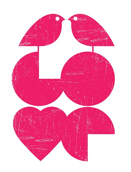 Typography: Love birds by kingslip