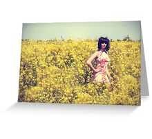 The beauty in yellow Greeting Card