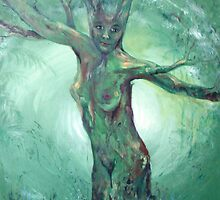 Forest Mother - celtic goddess by Cheryl White