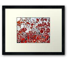 Symphony in Red Framed Print