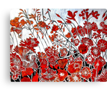 Symphony in Red Canvas Print
