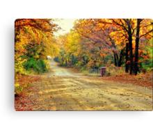 Color Book Road  Canvas Print