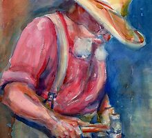 A Portrait A Day 23 - Blacksmith by Yevgenia Watts