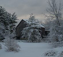 Barn In Winter by Kathy Jennings