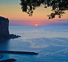 Sunset Over The Tyrrhenian Sea - Vico Equense, Italy by David Lewins